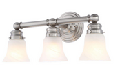 Hampton Bay 3-Light Brushed Nickel Bath Sconce