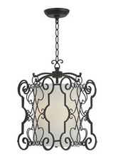 World Imports Alistar Rust 3-Lights Iron Pendant WI 7503-42