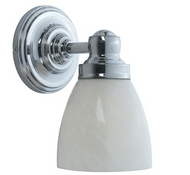 World Imports 1-Light Chrome Bath Sconce