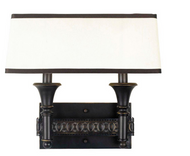 World Imports Manhattan  2-Light Oiled Bronze Wall Sconce