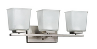 Hampton Bay 3-Light Brushed Nickel Vanity Wall Fixture 654104