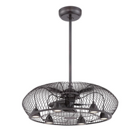 Earhart Collection 29 in. Indoor Oil-Rubbed Bronze Ceiling Fan