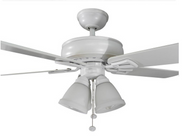 Hampton Bay Lyndhurst 52 in. Indoor White Ceiling Fan