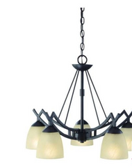 Hampton Bay Altham 5-Light 79-3 / 4 In. Bronze Downlight Chandelier