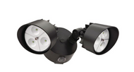 Lithonia Lighting Black Bronze LED Outdoor Wall-Mount Floodlight with Photocell