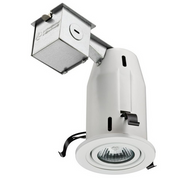 Lithonia Lighting 3 in. Matte White Recessed LED Gimbal Lighting Kit