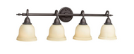 World Imports 4-Light Oil-Rubbed Bronze Bath Bar Light