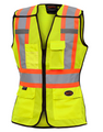 489 Women's Hi-Viz Safety Tear Away Vest