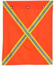 53 Polyester Flag With Reflective Tape On Both Sides
