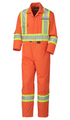 Safety Orange - 5513 Hi-Viz Industrial Wash Safety Coverall - Poly/Cotton