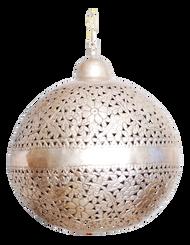 "Laura silver Hanging Lamp 36"""