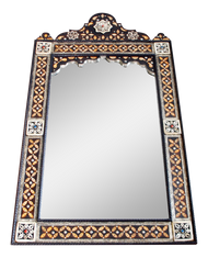 Moroccan Star Bone Inlaid Mirror