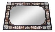 Moroccan Bone Inlaid & Metal Mirror