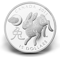 2011 $15 Zodiac Lunar Silver Coin - Year of the Rabbit (2nd in series) Canada