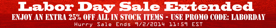 25% Off Labor Day Sale