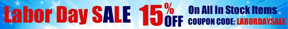15% Off Labor Day Sale - Use Promo Code LABORDAYSALE