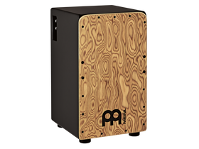 Meinl Woodcraft Professional Piezo Cajon with Baltic Birch Body and Makah-Burl Frontplate