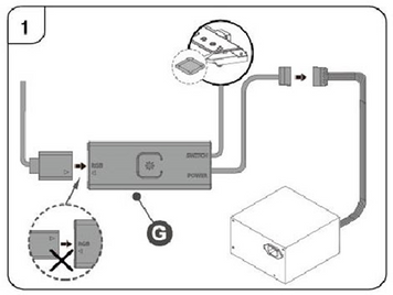 RGB Controller (Reset switch connectable)