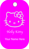 "Hello Kitty Dog tag with a chain (24"" stainless steel ball chain-2.4mm)"