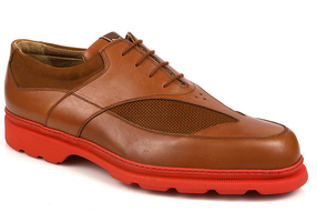 Michael Toschi Golf Shoes G3 Tobacco with Red Sole