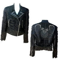 Kippy's Mina Moto Jacket with Armor Sleeves in Black