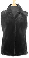 """25"""" Sheared Beaver Reversible Vest"""