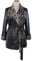 Alice Arthur Long Reversible Leather Jacket