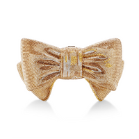 Judith Leiber Just For You Champagne Bow Clutch Bag