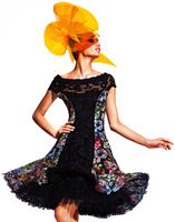 Olvi's Trend Floral Print Panel Dress