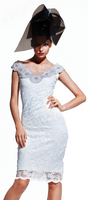 Olvi's Trend V-Neck White Lace Dress