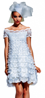 Olvi's Trend Off-The- Shoulder White Lace Dress
