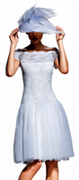 Olvi's Trend Drop Waist White Lace Dress