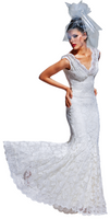 Olvi's Trend V-Neck Long Lace Dress