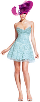 Olvi's Trend Cloud Blue Camisole Lace Dress