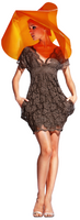 Olvi's Trend Brown V-Neck Lace Dress with Pockets