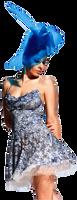 Olvi's Trend Heather Blue Camisole Lace Dress