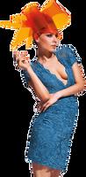 Olvi's Trend Steel Blue Decollete Lace Dress