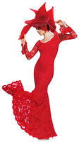 Olvi's Trend Ruby Red Scoop Neck Lace Dress