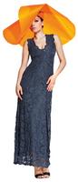 Olvi's Trend Charcoal Deep V-Neck Lace Dress