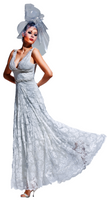 Olvi's Trend White Deep V-Neck Dress with Beaded Accents