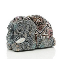 Judith Leiber Couture Crystal Tembo Elephant Minaudière