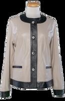 Alice Arthur Button Down Grey and Black Short Coat