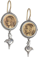Konstantino Kerma Bronze & Sterling Silver Coin Drop Earrings