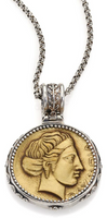 Konstantino Kerma Olympia Bronze & Sterling Silver Coin Pendant
