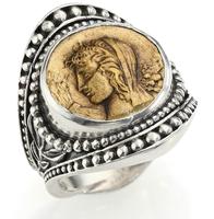 Konstantino Kerma Bronze & Sterling Silver Handmade Coin Ring