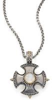 Konstantino Erato Labradorite, 18K Yellow Gold & Sterling Silver Shield Pendant