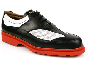 Michael Toschi Golf Shoes G3 Black/White with Red Sole