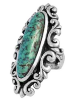 King Baby Studio Baroque Lace Ring with New Lander Turquoise