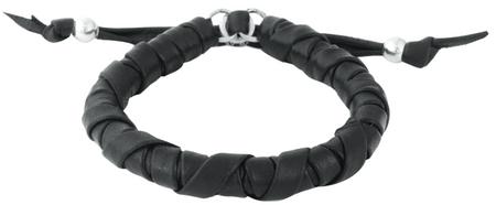King Baby Studio Thick Natural Wrap Black Leather Bracelet