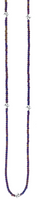 King Baby Studio Square Purple Hematite Bead Necklace with 7 MB Cross Stations